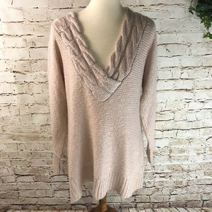 H&M Braided V-neck Sweater